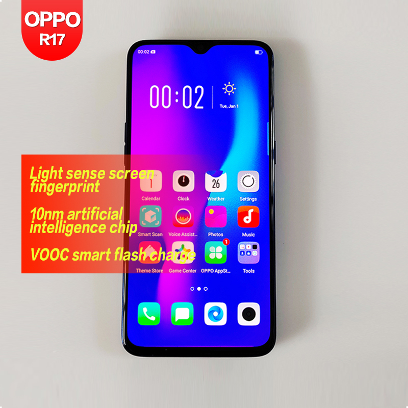 OPPO R17 Global ROM Original Android Qualcomm SDM670 6.4inch 1Front & 2 back Cameras 2340*1080 16MP+5MP Octa Core 1080P 3500mAh