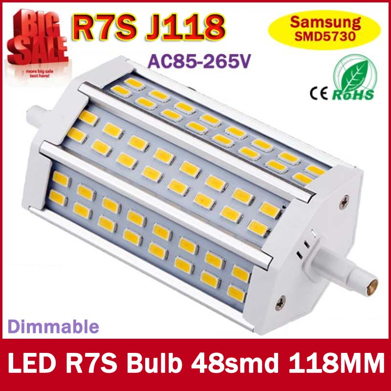 R7S LED Lamp 48pcs SMD5730 118mm J118 85-265V LED r7s Light Bulb Energy Saving Perfect Replace Halogen Lamp Free Shipping smart bulb e27 7w led bulb energy saving lamp color changeable smart bulb led lighting for iphone android home bedroom lighitng