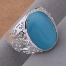 AR419 Hot 925 sterling silver ring, 925 silver fashion jewelry, luxuriant/sky blue stone /atcajkja atwajlda