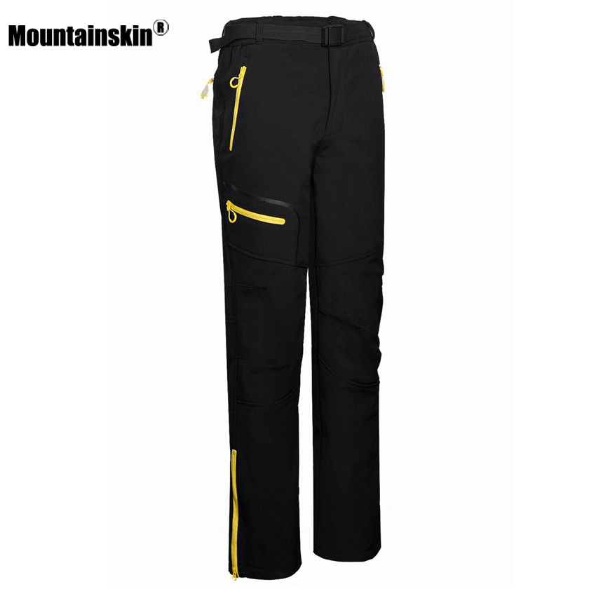 Mountainskin Men's Winter Softshell Fleece Pants Outdoor Hiking Trekking Camping Climbing Skiing Thermal Sports Trousers VA194 keybook cover solid hard cover for xiaomi mi air 12 5 13 3 inch laptop protective shell skin for mi air 12 13 notebook case