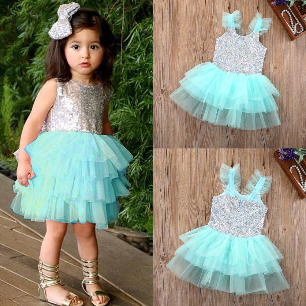Fashion Hot cute Toddler Newborn Baby Kids Girls Wedding Party Gown ...