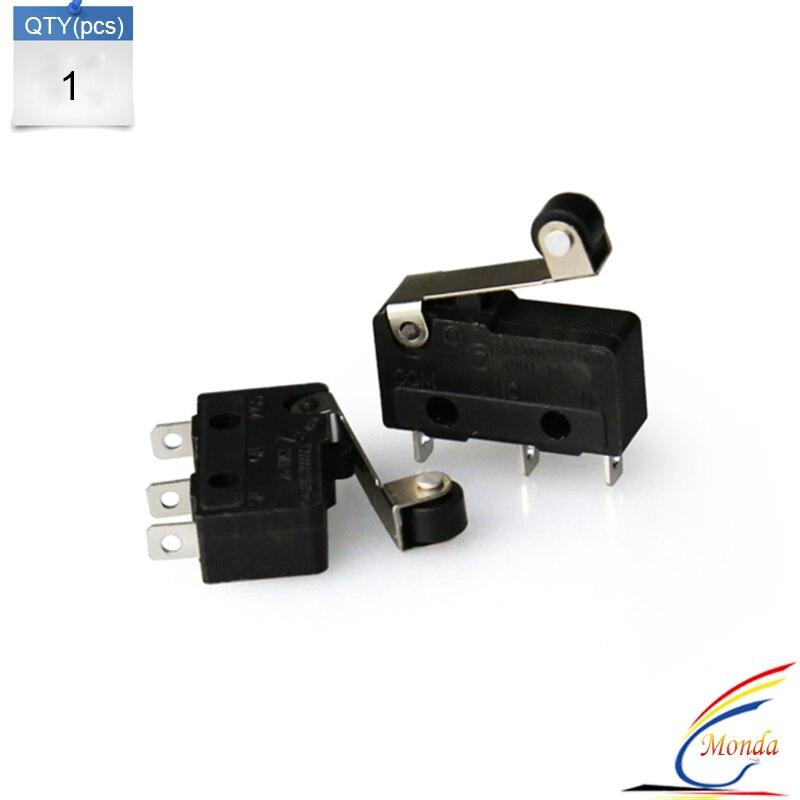 Anet 5PCS/lot 3D Printer Limit Switch 3Pin N/O N/C 5A 250VAC Handle KW11-3Z Mini Sensitive MicroSwitch With Pulley