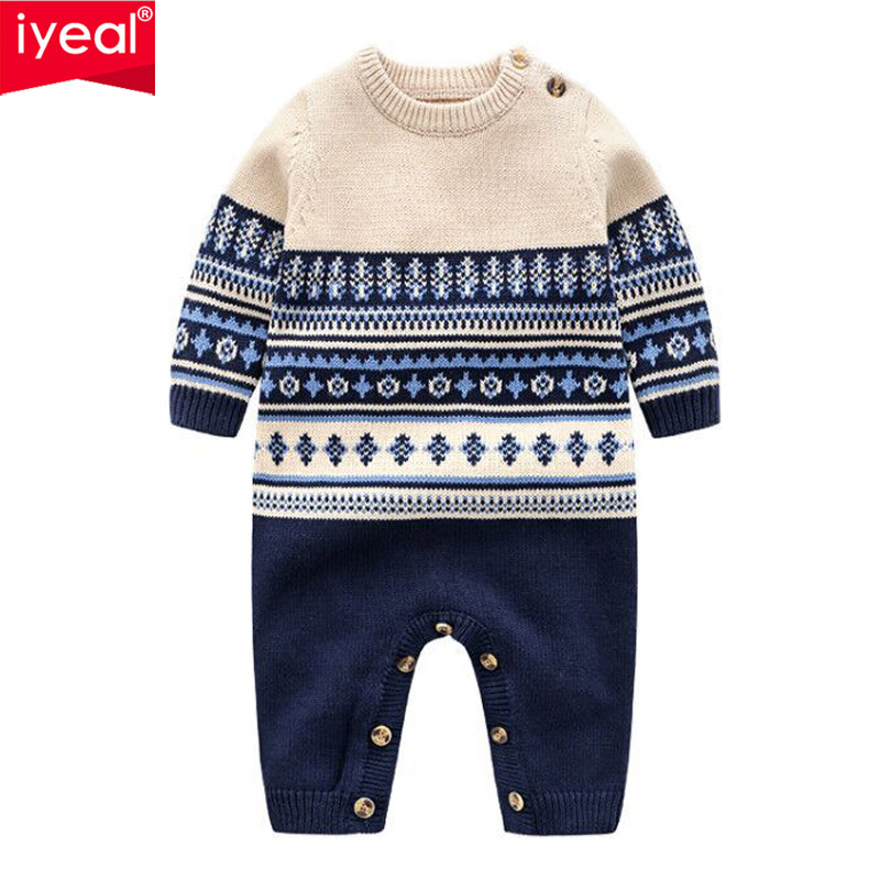 IYEAL Quality Baby Rompers Long Sleeve Toddler Boys Clothing Spring Autumn Newborn Jumpsuits Infant Boys Clothes Baby OutfitsIYEAL Quality Baby Rompers Long Sleeve Toddler Boys Clothing Spring Autumn Newborn Jumpsuits Infant Boys Clothes Baby Outfits