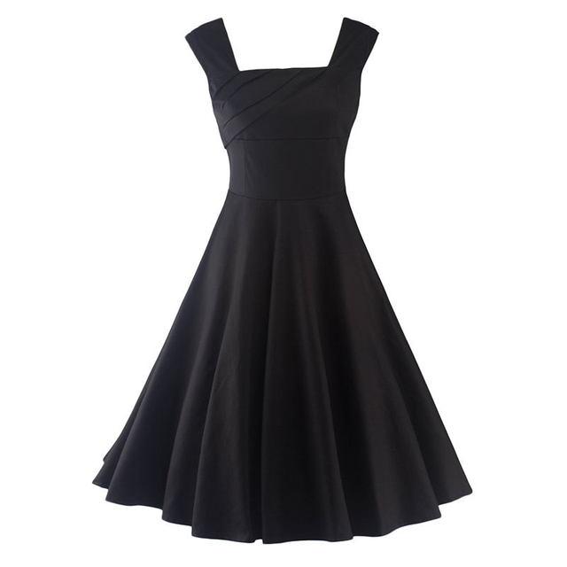 Online Shop Women Summer Retro Vintage Dress Big Swing Party Robe