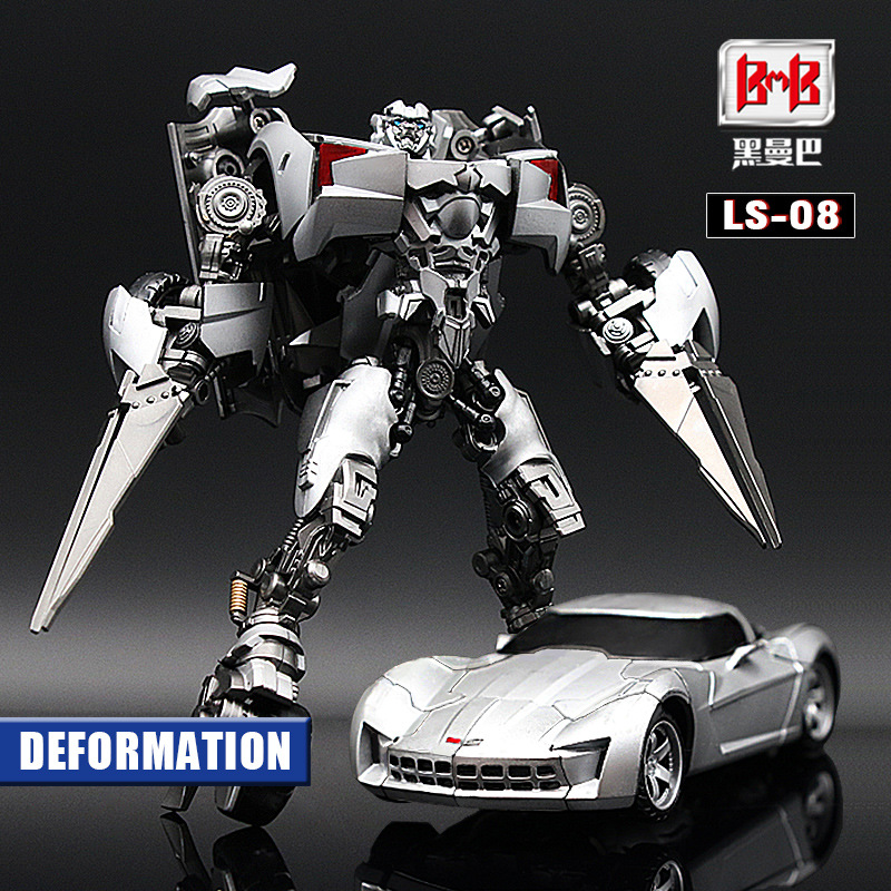 Transformation LS08 noir Mamba Film alliage métal surdimensionné Collection Robot jouets