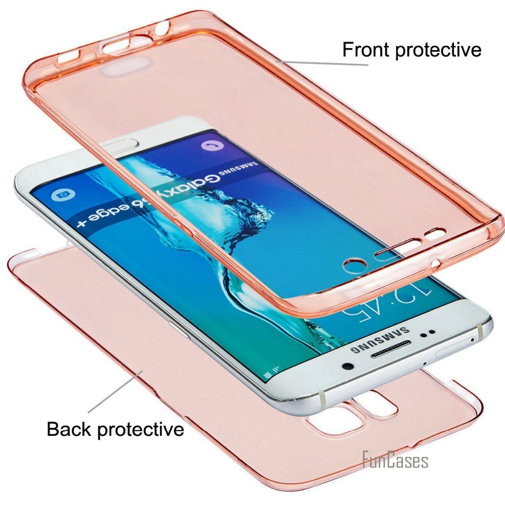 360 Silicon Soft For Samsung Galaxy A3 A5 A7 2017 J5 J7 2016 Case J3 J5 J7 2016 G530 S8 S5 4 S6 S7 Edge Case TPU Full body Cover