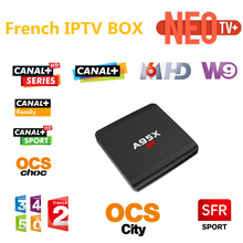 Français IPTV RK3229 A95X-R1 Android 6.0 TV Box 1 GB/8 GB 4 K HDMI 2.0 Smart TV Box avec Canal + M6 W9 SFR Sport OCS Media Player