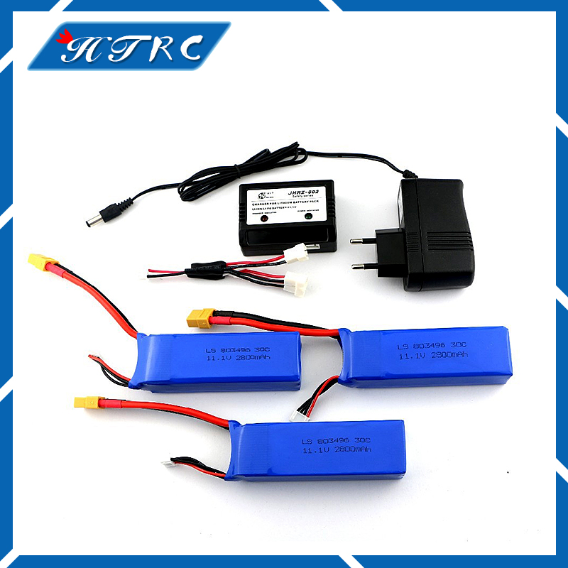 3pcs CX20 Newest Cheerson CX-20 11.1V 2800mah 30C Li-po Battery With Charger CX 20 RC Quadcopter Spare Parts Max Rate For Toys 3pcs 3 7v 900mah li po battery 3 in 1 green us regulation charger and charging cable for rc xs809 xs809hc xs809hw aircraft
