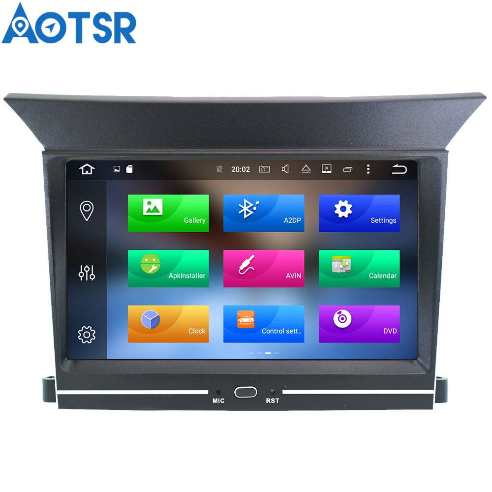 Aotsr Android 8.1 Quad core GPS navigation Car DVD Player For Honda Pilot 2009 2012 multimedia 2 din radio recorder stereo wifi
