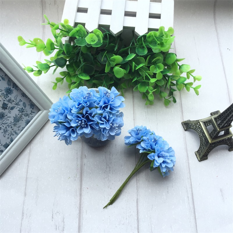 6pcs Silk Stamen Artificial Flower Bouquet For Wedding And Party Decoration 2