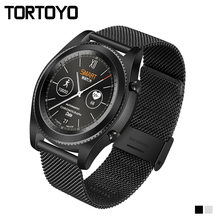 S9 Smart Watch Bluetooth Smartwatch Pedometer Heart Rate Monitor NFC Business Sports Steel Leather Wristwatch For iPhone Android