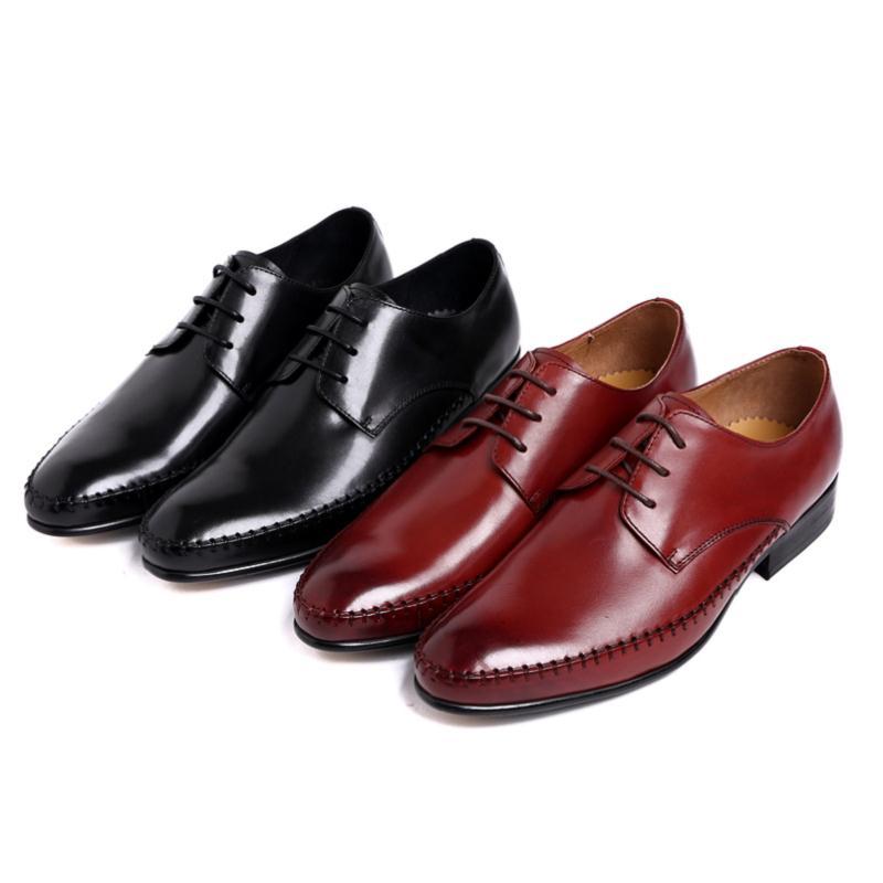 Mocasines Vestido Baja rojo Del Cuero Traje Negocios Negro Coche Mycolen Hombre De Ayuda Sutura Zapato Tie Lujo Hombres Marca nUwxnO17Z
