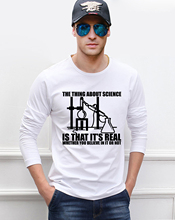 Adult Chemistry Science men's long sleeve T-shirts 2016 new autumn 100% cotton comfortable fashion casual slim fit men t shirts