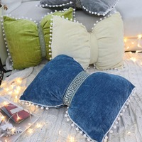Pillowcase Hot Lovely Embroidery Bow Waist Pillow Solid Soft Throw Cushion Cover Sofa Livingroom Home Decor Gifts kussensloop