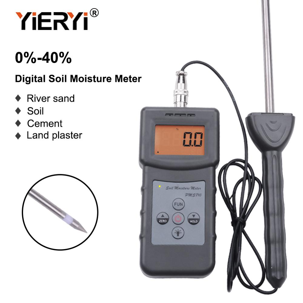 Yieryi PMS710 100% nueva marca Digital medidor de humedad del suelo prueba río arena suelo cemento tierra herramienta de Sensor