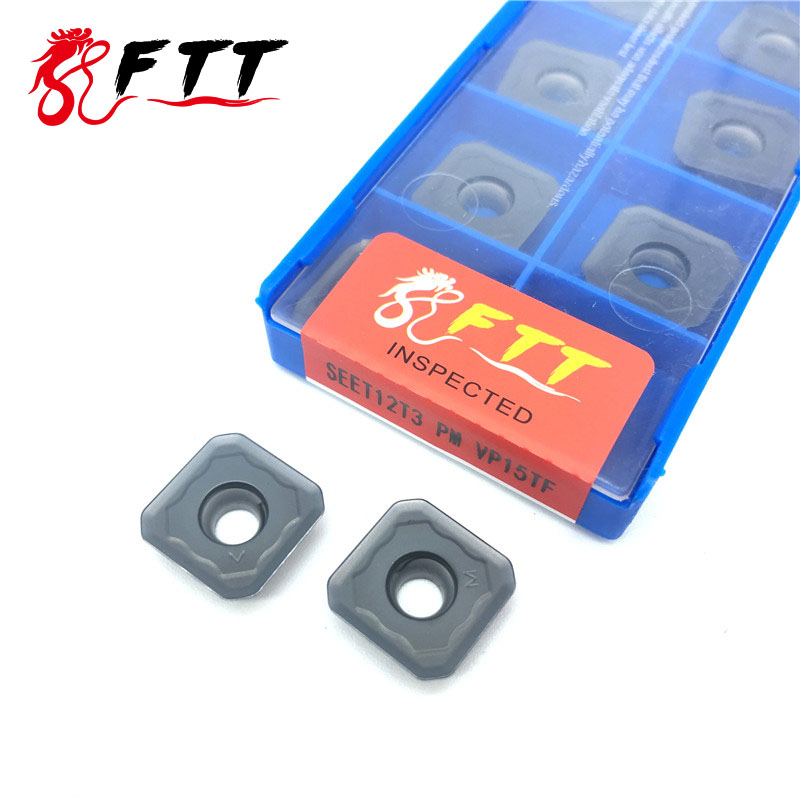 SEET12T3 PM VP15TF High quality SEET 12T3 Milling Tools Carbide insert Lathe cutter CNC tool in Turning Tool from Tools
