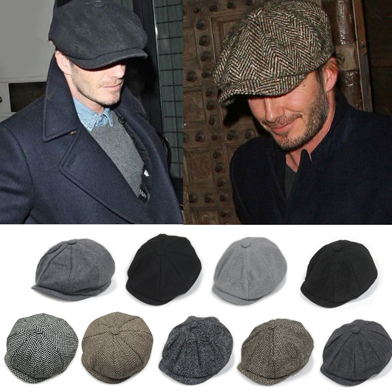 Peaky Blinders Men Berets Hat For Winter Autumn Vintage Herringbone Octagon Cap Men's Women's Warm Casual Gatsby Flat Beret Hats