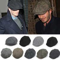Peaky Blinders hommes bérets chapeau pour hiver automne Vintage chevrons octogone casquette hommes femmes chaud décontracté Gatsby plat béret chapeaux