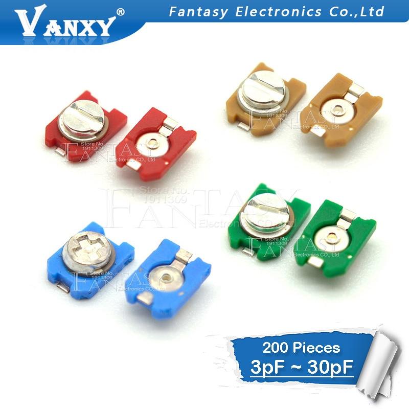 200pcs trimmer Adjustable capacitor 3PF 6PF 10PF 20PF 30PF SMD TZC3Z300A110 TZC3Z060A110 TZC3Z030A110 TZC3Z200A110 TZC3Z100A110