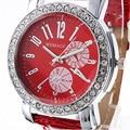 2016 Nova casual e relógios de quartzo homens marca de luxo forma redonda dial relógio dos homens de moda com relógio de couro para homens