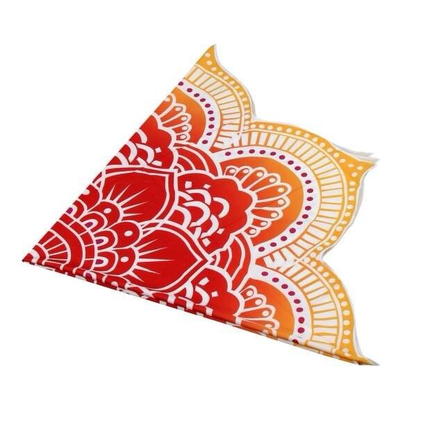 Round Printed Tablecloth Beach Pool Home Shower Towel Blanket Table Cloth Yoga Mat Tovaglia Tavolo#P