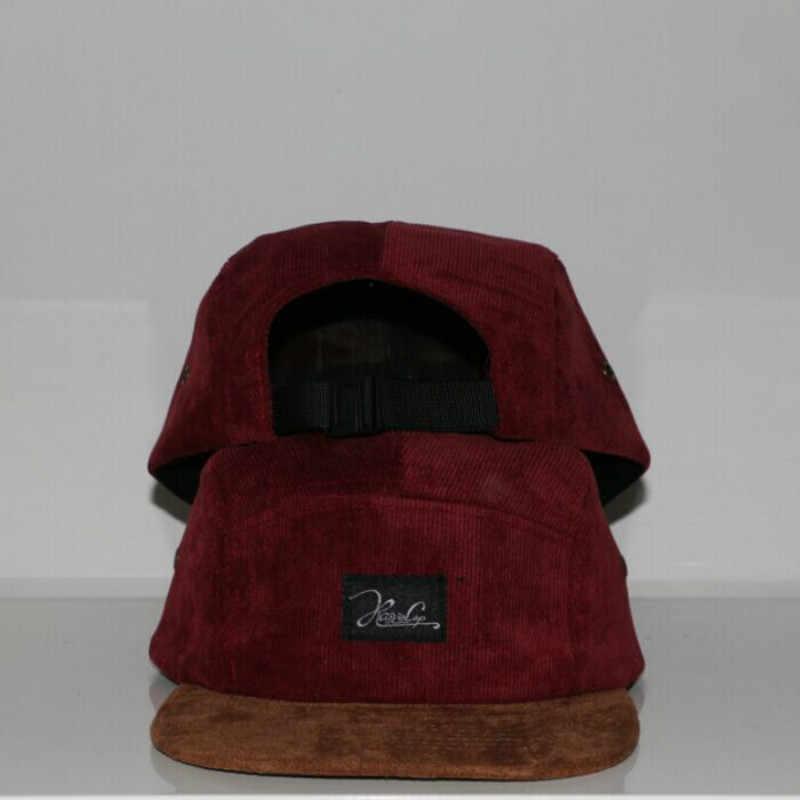 コーデュロイスエードブランドブランク 5 パネルキャップヒップホップ帽子骨ボビー 5 パネルスナップバック野球キャップ男性の女性のためフラット帽子キャスケット