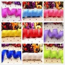Cinta de encaje grograna multicolor de 30mm, accesorios para el cabello diy, material Manual de 10 yardas, color puro, envío gratis