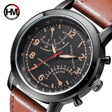 Creative Calendar Date Mens Watch Top Brand Luxury Men's Quartz Breathable Leather Sports Military Army Watch Relogio Masculino цена