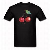 Kawaii Kirsche Malerei T-shirt Mode Männer Frauen Rakete Kurze hülse O Hals Baumwolle T-shirt Sommer T-shirt Tops T Blusa Shirts