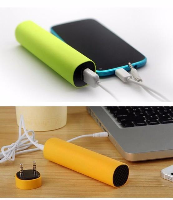 Multi-function 4000 мАч мини power bank + Mini speaker + портативный держатель телефона bateria наружный зарядное устройство для любого мобильного телефон