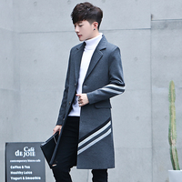 High Quality Men's Stripes Long Jackets Fashion Business Casual Men Trench Slim Comfortable Male Coats Size S 3XL