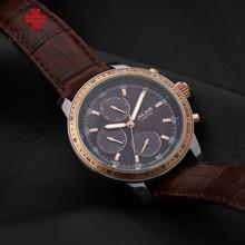 Юлий швейцарские часы мужские Ограниченная серия 3 набирает многофункциональный кожаный ремешок Сталь Водонепроницаемый Whatch Бесплатная доставка Лидирующий бренд JAL-036