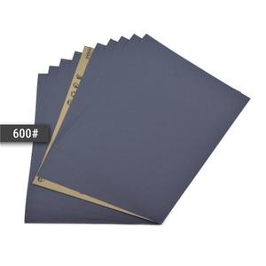 Image 5 - POLIWELL 4 pièces 280x230mm feuilles de ponçage imperméables haute Performance papier de verre humide et sec pour le polissage de voiture de meubles en bois en métal