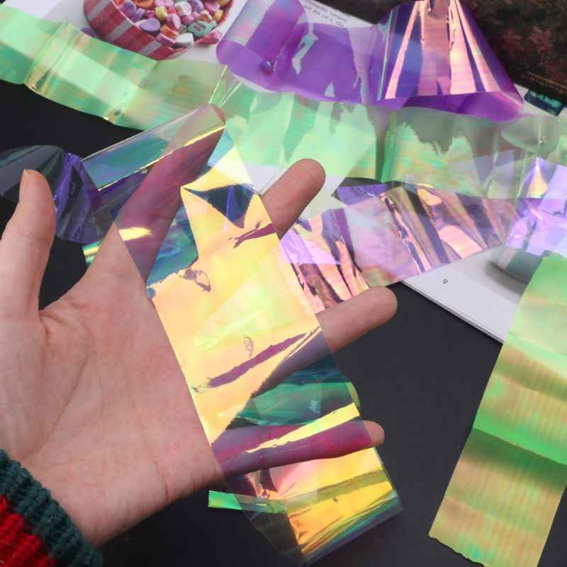 Laser Aurora AB Effect Reflective Mirror Paper DIY Epoxy Resin Jewelry Fillings