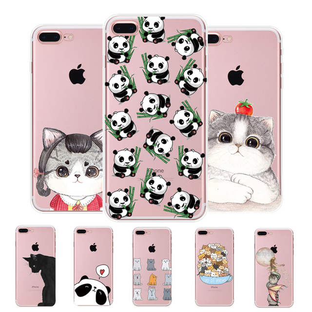 8ed328f3e2 MISSCASE Cute Cat Phone Cases For iPhone 6 6s 7 8 plus 5 5s SE TPU Soft  Silicone Cases Clear Transparent Cover For iPhone 7 Case
