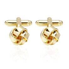 a4ddd545d115 3 Pairs boda fecha regalo cobre mancuernas para hombre novedad diseño del  nudo del Metal oro Color cobre gemelos may.