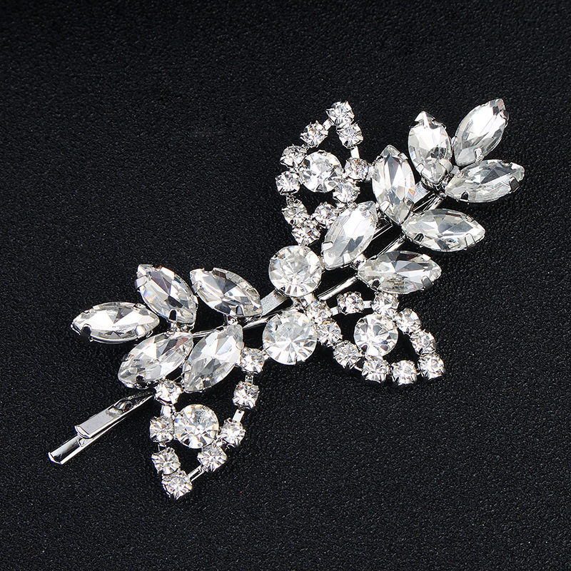 Crystal Hair Clip Rhinestone Diamante WeddingBridal Prom Styling Accessories
