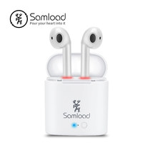 Samload Bluetooth Earphones Wireless Headphones I7 TWS Headset Stereo Music Ear bud Pods For Apple iPhone 6 7s 8 Samsung Xiaomi(China)