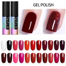 LILYCUTE Red Yellow Purple UV LED Pure Gel Color Polish Long Lasting Soak Off Lacquer Nail Art Manicure Varnish