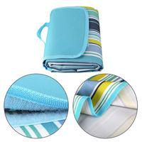Best Quality Outdoor Picnic Blanket Water Resistant for Camping Hiking Festivals,Spring Summer Stripe Camping mat beach blanket