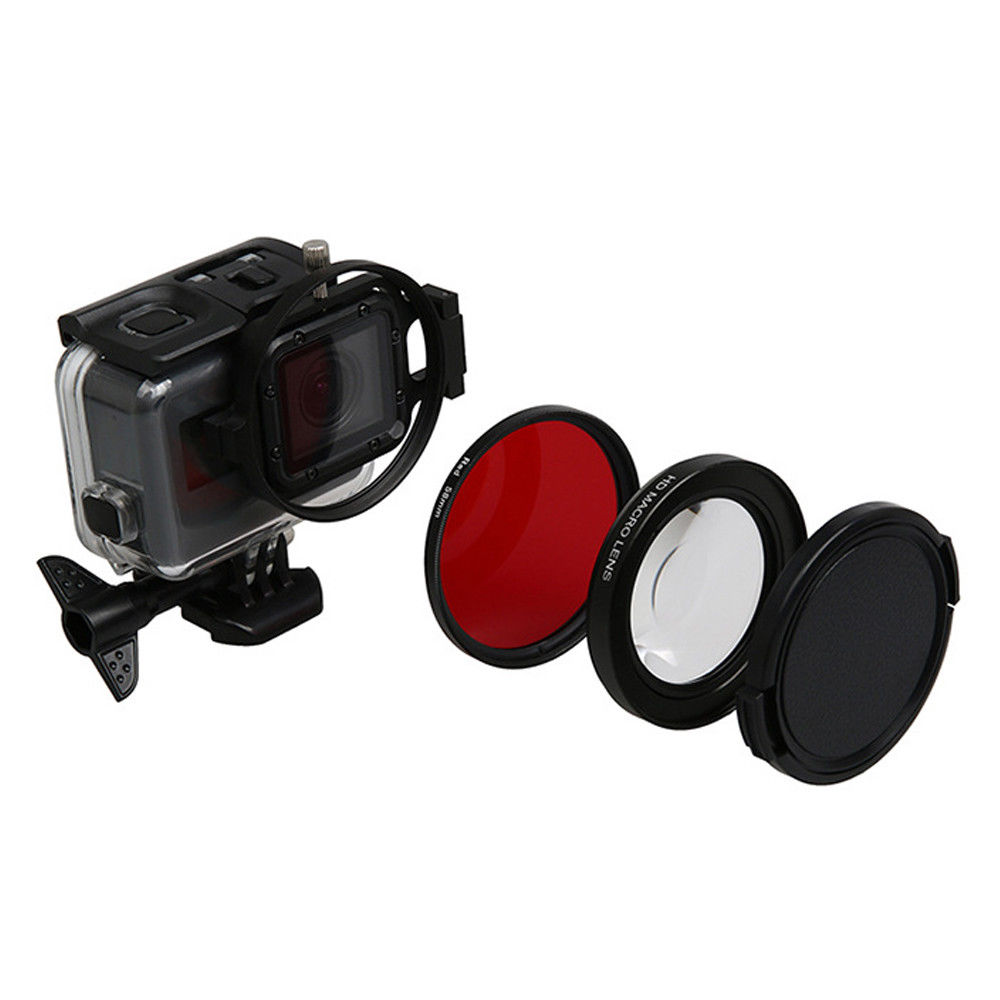 58mm Round Circle UV Lens Filter with Cap for GoPro HERO5 Session //HERO4 Session//Hero Session Professional Lens Filter Accessory Kit Effects Filters