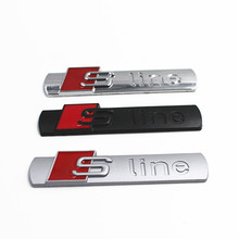 3D Metal Car Sticker S line Sline Sticker Car Covers for Audi A3 A4 A5 A6 A7 A8 Q3 Q5 Q7 TT Auto Decal Accessories(China)