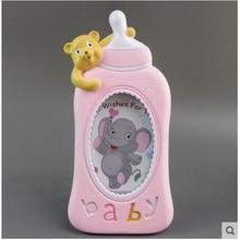 Baby photo frame Cute cartoon creative wall Kids childrens set up Bottle 6 inch