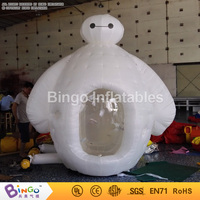 cartoon Inflatable money cash grab cube 2.7 meters high money booth inflatable game for advertising promotion BG A0675 8 toy