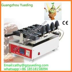 High quality open mouth korean fish waffle/taiyaki fish waffle maker machine