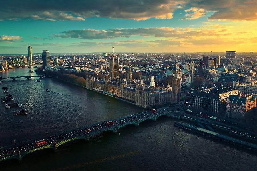 ᐃMarco DIY Londres, Gran Bretaña, casas, Big Ben paisaje urbano ...