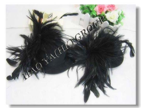 free shipping many colors fashion feather fascinator,mini top hat for cocktail evening,mixed order