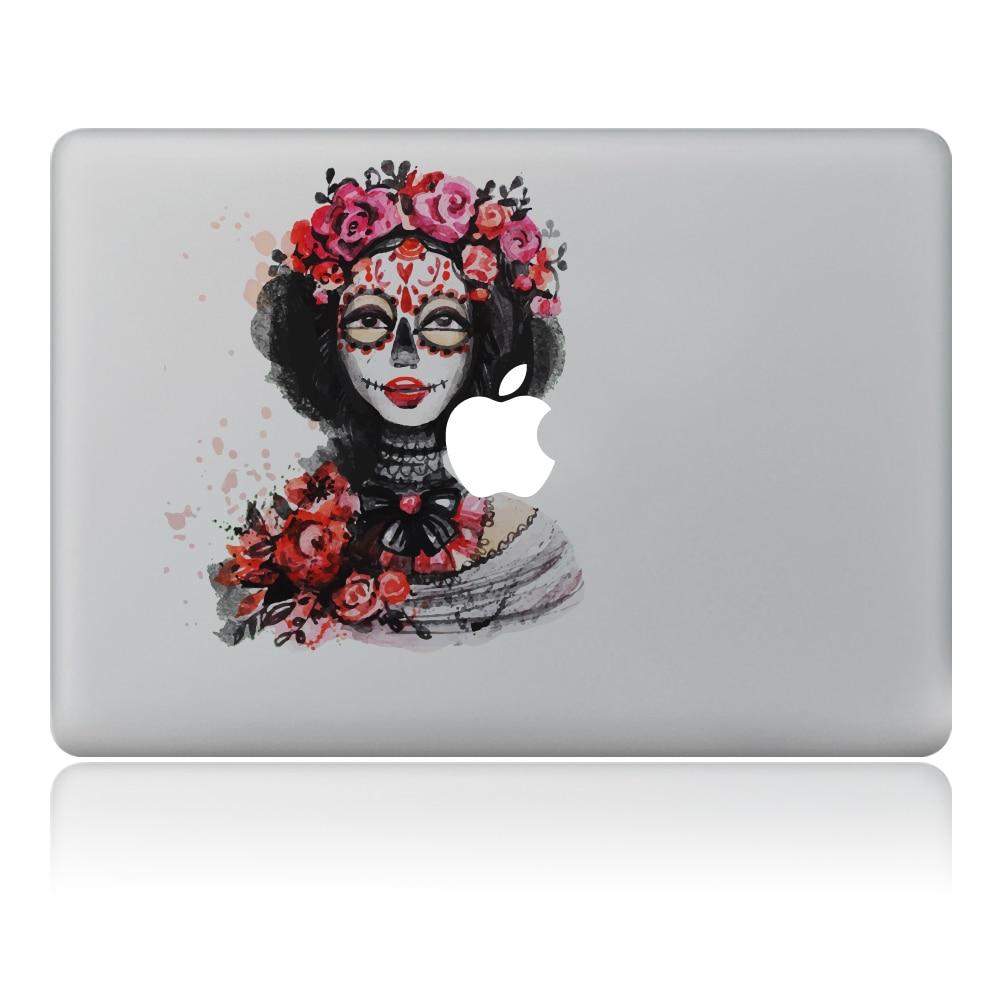 Rose leaves strange woman Vinyl Decal Laptop Sticker For DIY Macbook Pro Air 11 13 15 inch Laptop Skin