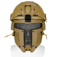 New Outdoor Airsoft Helmet Mesh Airsoftsports Tactical  Safety Motorbike Full Face Mask Army Fan