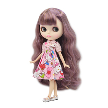 Factory Neo Blythe Doll Dreamy Purple Hair Jointed Body 30cm